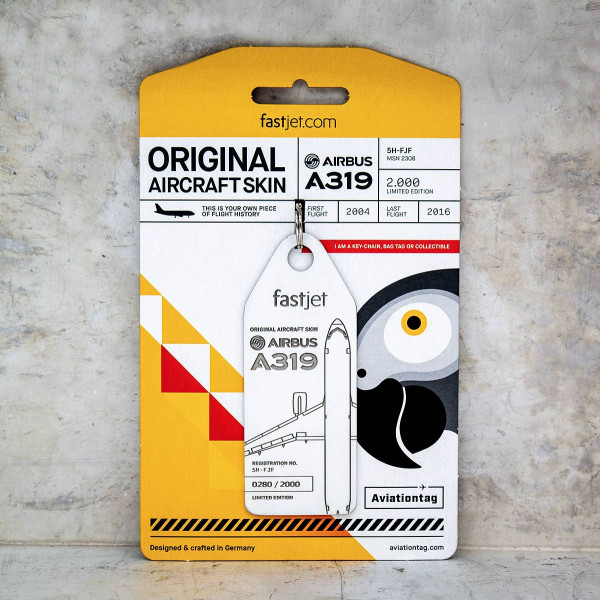 Aviationtag - Airbus A319 – 5H-FJF01 - fastjet