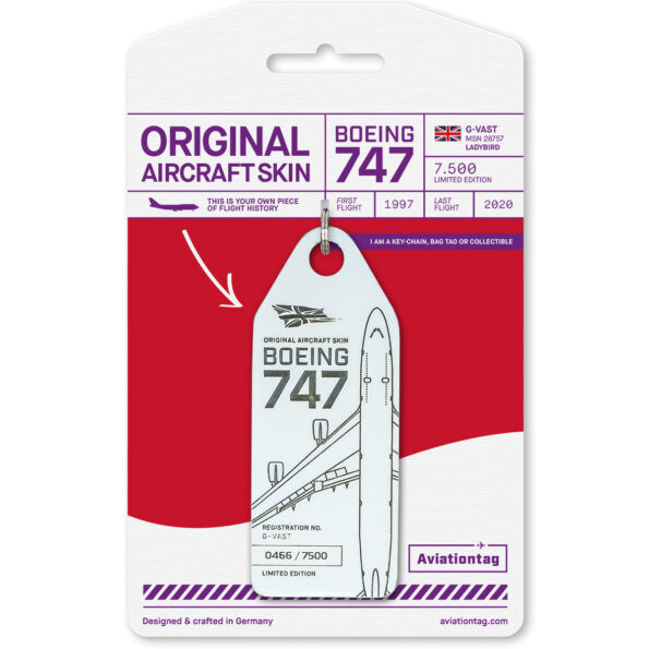 Aviationtag - Boeing B747 - G-VAST-01 white