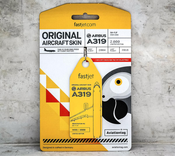 Airbus A319 – Yellow (fastjet co-branded)