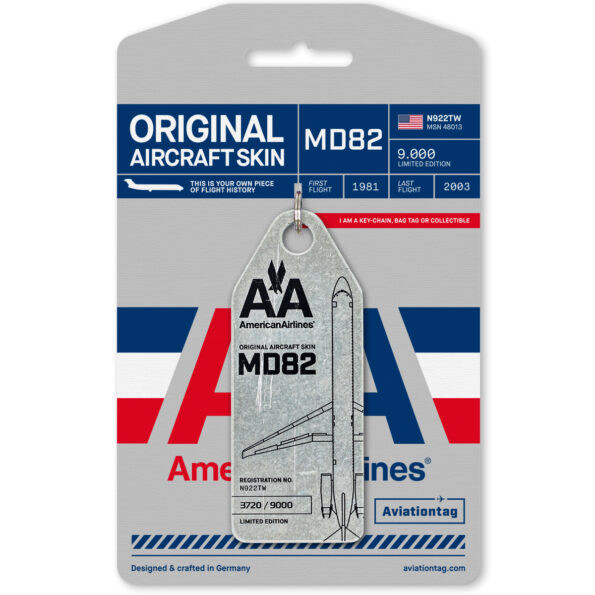 Aviationtag - American Airlines - MD82 - N922TW - silber