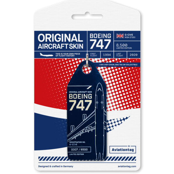 Aviationtag - Boeing B747 - G-CIVE blue
